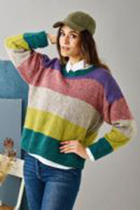 stribet sweater med ærmer