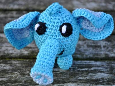 Hæklekit Nøglering Vedhæng som Elefant