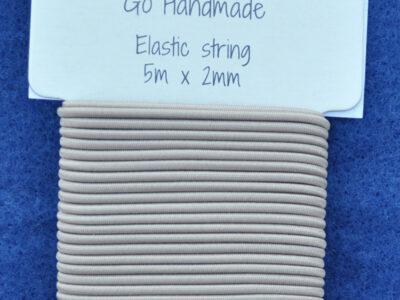 Go Handmade Elastiksnøre Beige