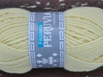 Strikkegarn Peruviansk Højlandsuld French Vanilla 196