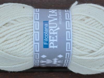 Strikkegarn Peruviansk Højlandsuld Natural White 101